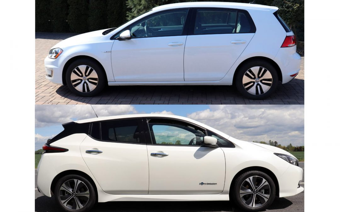 Elektromobil z bazaru – Nissan Leaf 2018 nebo e-Golf 2017?