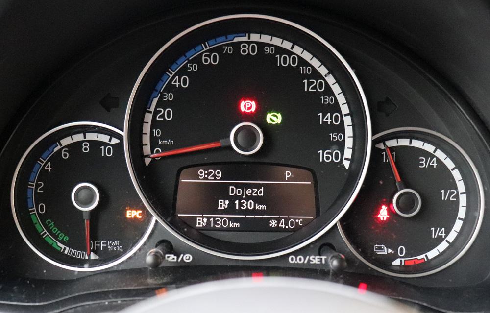 elektromobil Volkswagen e-Up dojezd