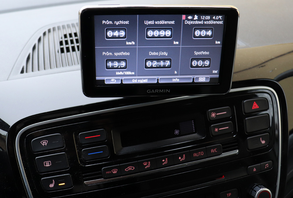 displej Volkswagen e-Up