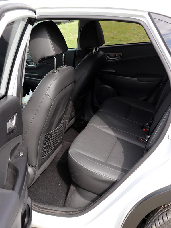 Hyundai Kona Electric zadní sedačky